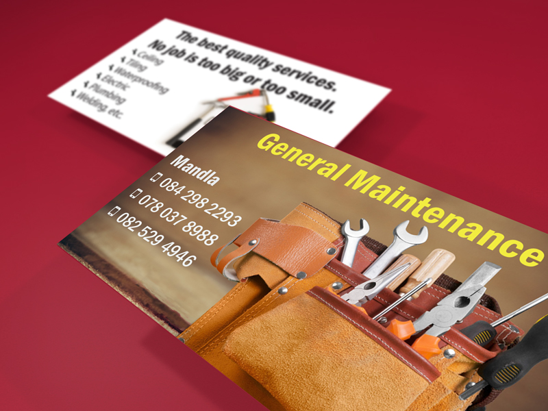 Peri-Peri-Creative-Mandla-General-Maintenance-Business-Cards