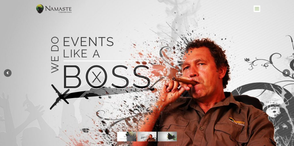 Peri Peri Creative-Namaste Corporate Events-web banner like a boss