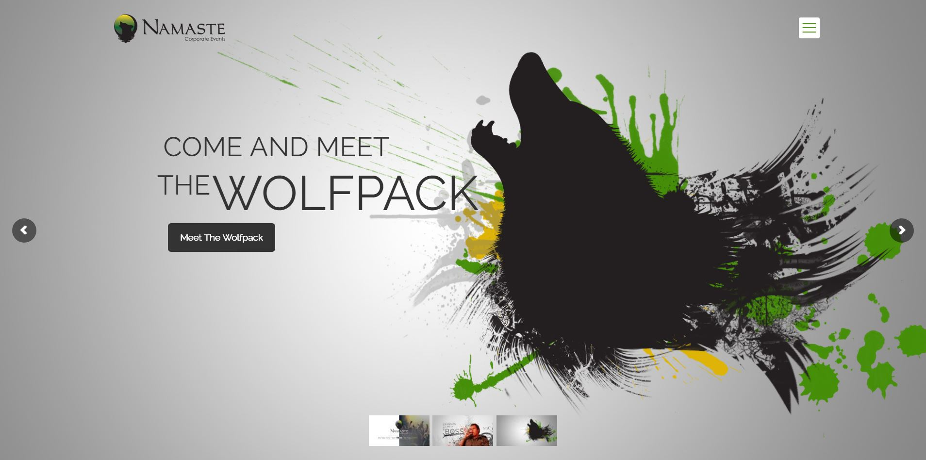 Peri Peri Creative-Namaste Corporate Events-web banner wolfpack